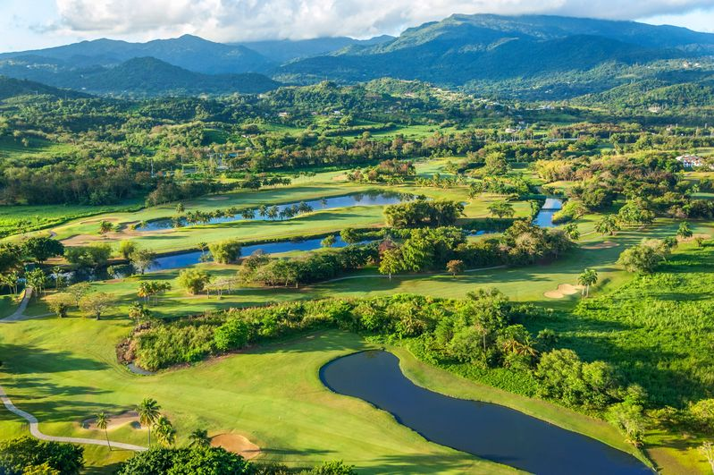 Aerial view of the River Course at Rio Mar Country Club